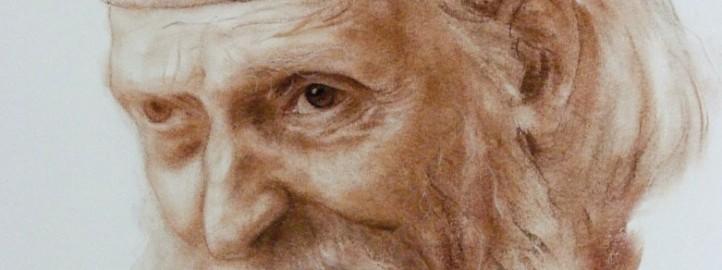 Светац, сепија на папиру - Милош Бојовић