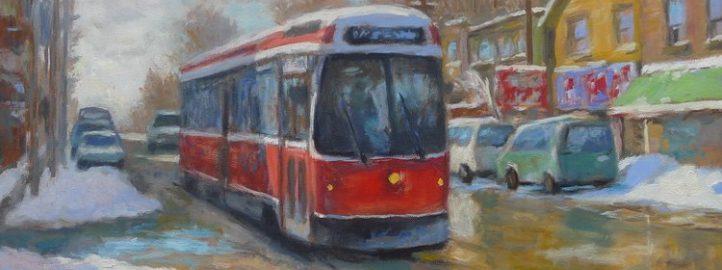 Трамвај – Queen street, уље на платну, 20x24 - Даглас Едвардс