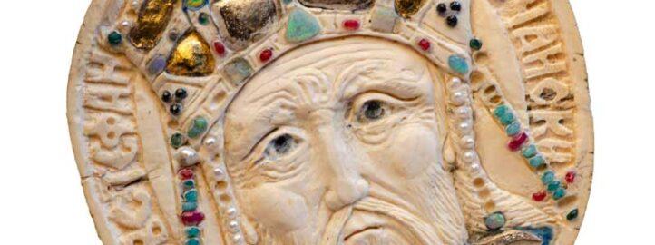 Краљ Стефан Дечански, кост, детаљ са Кивота Светог Саве - Војислав Билбија