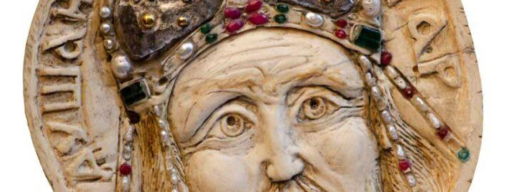 Цар Душан, кост, детаљ са Кивота Светог Саве - Војислав Билбија