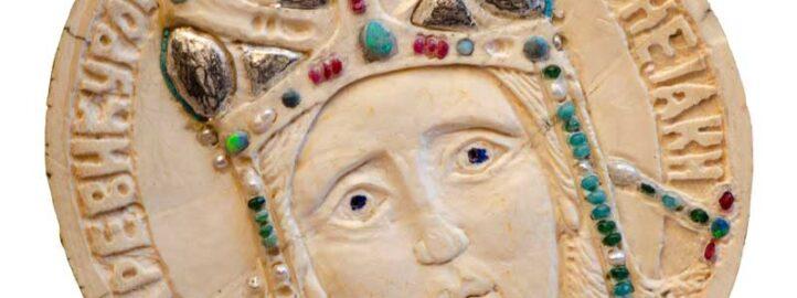 Цар Урош Нејаки, кост, детаљ са Кивота Светог Саве - Војислав Билбија