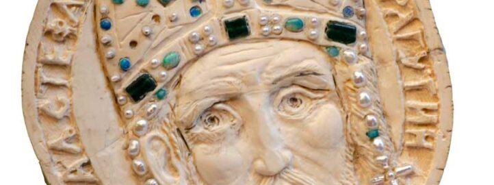 Краљ Драгутин, кост, детаљ са Кивота Светог Саве - Војислав Билбија